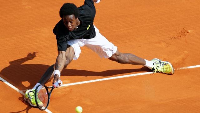 Le Français Gaël Monfils lors de sa défaite au Masters 1000 de Monte-Carlo contre Montanes, le 16 avril 2013 [Jean Christophe Magnenet / AFP/Archives]