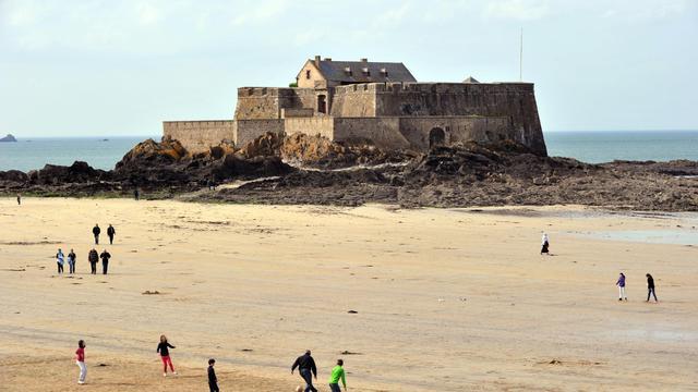 Vue du fort de Saint-Malo, le 17 avril 2013 [Frank Perry / AFP/Archives]