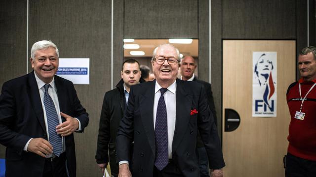 Le président d'honneur du Front national, Jean-Marie Le Pen [Jeff Pachoud / AFP/Archives]