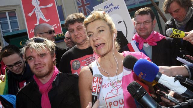 Frigide Barjot, la tête de file des opposants au mariage homo, le 21 avril 2013 à Paris [Pierre Andrieu / AFP/Archives]