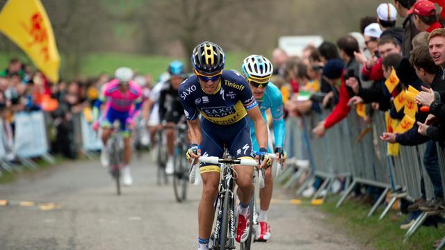 L'Espagnol Alberto Contador le 21 avril 2013 lors de Liège-Bastogne-Liège [Lionel Bonaventure / AFP/Archives]