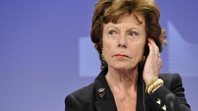 La commissaire européenne chargée des nouvelles technologies, Neelie Kroes, le 24 avril 2013 à Bruxelles [Georges Gobet / AFP/Archives]