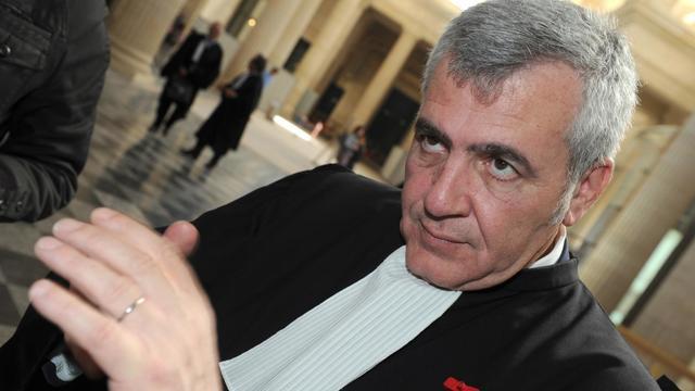 Thierry Herzog, l'avocat de Nicolas Sarkozy, le 25 avril 2013 au palais de justice de Bordeaux [Mehdi Fedouach / AFP/Archives]