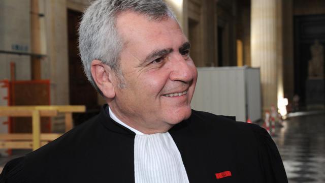 Me Thierry Herzog, avocat de Nicolas Sarkozy, le 25 avril 2013 au Palais de justice de Bordeaux [Mehdi Fedouach / AFP/Archives]