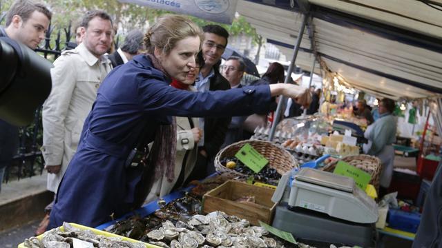 Nathalie Kosciusko-Morizet, candidate à la primaire UMP pour la mairie de Paris en campagne, le 26 avril 2013 [Francois Guillot / AFP/Archives]
