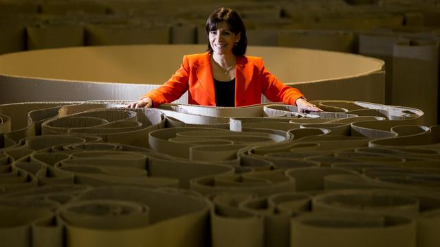 La candidate PS à la mairie de Paris, Anne Hidalgo, le 27 avril 2013 à Paris [Joel Saget / AFP/Archives]