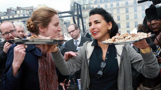 Radchida Dati (D) et Nathalie Kosciusko-Morizet, le 28 avril 2013 à Paris [Pierre Verdy / AFP/Archives]