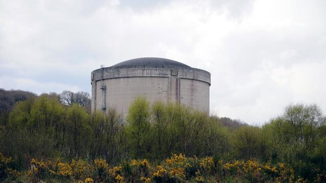 Centrale nucléaire devant être démantelée à Brennilis, dans l'ouest de la France, le 28 avril 2013 [Fred Tanneau / AFP/Archives]
