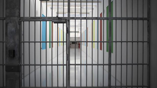 Une grille de prison [Charly Triballeau / AFP/Archives]