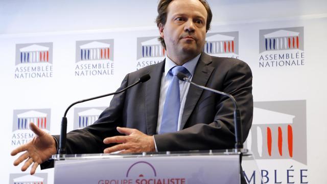 Le député socialiste Jean-Marc Germain livre un discours à l'Assemblée nationale, le 30 avril 2013 à Paris [Francois Guillot / AFP/Archives]