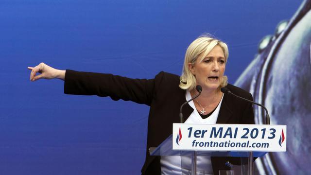 La présidente du FN Marine Le Pen, le 1er mai 2013 à Paris [Joel Saget / AFP/Archives]