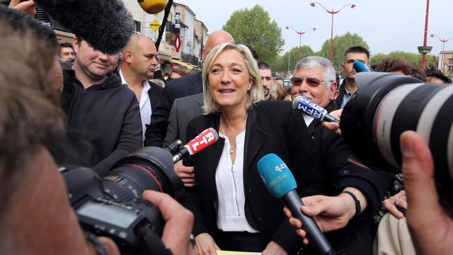 La présidente du FN, Marine Le Pen, le 4 mai 2013 à Villeneuve-sur-Lot [Nicolas Tucat / AFP/Archives]