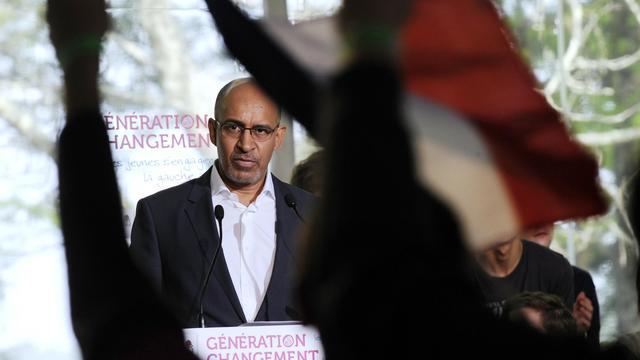 Harlem Désir, Premier secrétaire du Parti socialiste, le 5 mai 2013 à Soustons, dans le sud-ouest [Jean-Pierre Muller / AFP/Archives]