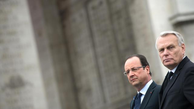 Le président François Hollande et le Premier ministre Jean-Marc Ayrault, le 8 mai 2013 à Paris [Bertrand Langlois / AFP/Archives]
