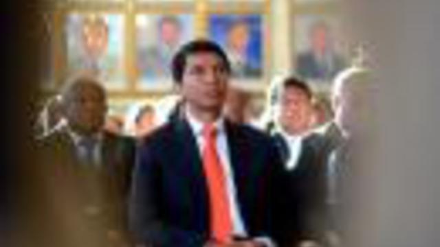 Le président de la Transition de Madagascar Andry Rajoelina assiste à une cérémonie le 13 mai 2013 à Antananarive [Bilal Tarabey / AFP/Archives]