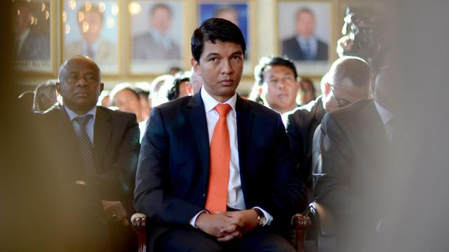 Le président de transition malgache Andry Rajoelina, le 13 mai 2013 à Antananarivo [Bilal Tarabey / AFP/Archives]