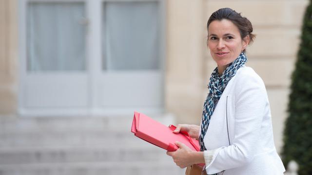 La ministre de la Culture et de la Communication Aurélie Filippetti le 14 mai 2013 dans la cour de l'Elysée [Bertrand Langlois / AFP/Archives]