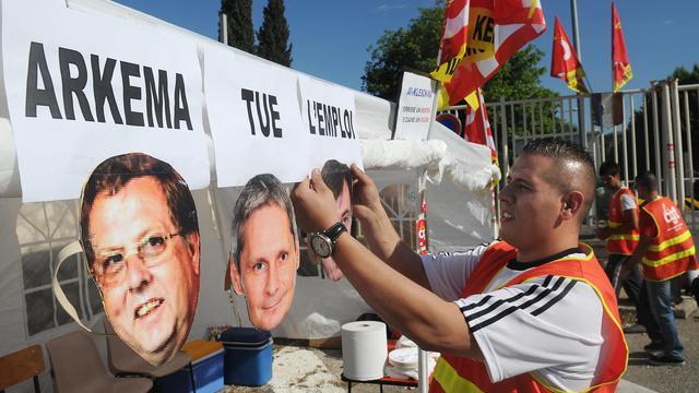Protestation de salariés de Kem One, le 14 mai 2013 à Marseille [Boris Horvat / AFP/Archives]