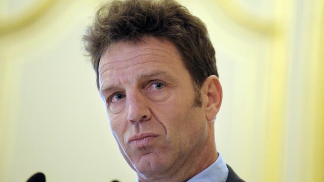 Geoffroy Roux de Bézieux, un des cinq candidats à la présidence du Medef, le 14 mai 2013 à Paris [Eric Piermont / AFP/Archives]
