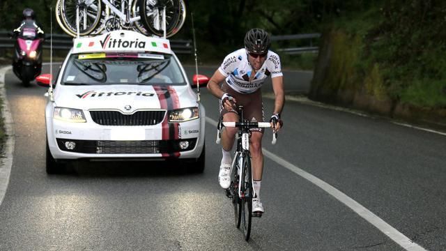Le Français Sylvain Georges lors de la 4e étape du Giro entre Policastro Bussentino et Serra San Bruno, le 7 mai 2013 [Luk Benies / AFP/Archives]