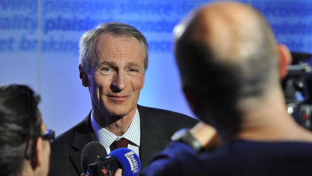 Jean-Dominique Senard, le patron de Michelin, au siège du groupe à Clermont-Ferrand, le 17 mai 2013 [Thierry Zoccolan / AFP/Archives]
