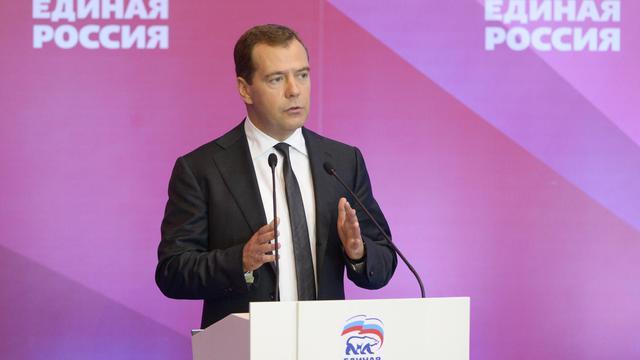 Le Premier ministre russe, Dmitri Medvedev, le 18 mai 2013 à Moscou [Alexander Astafev / Ria Novosti/AFP]