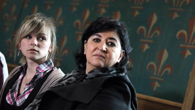 La mère d'Alexandre, Anna Castalado (C), au tribunal de Rouen, le 21 mai 2013 [Charly Triballeau / AFP]