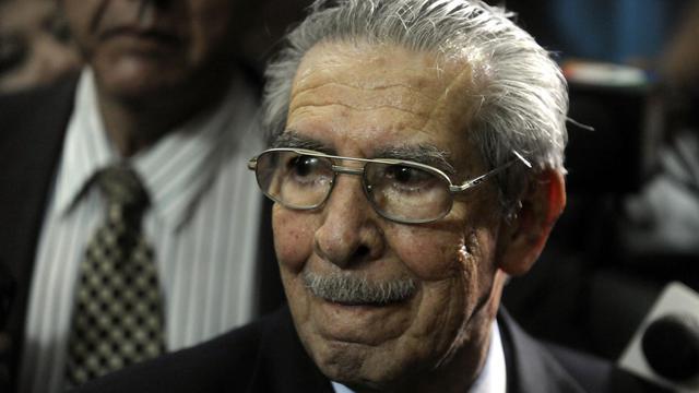 L'ancien président du Guatemala, Efrain Rios Montt, lors de son procès pour génocide, le 10 mai 2013 à Guatemala City [Johan Ordonez / AFP/Archives]
