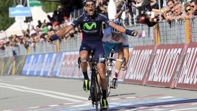 L'Espagnol Benat Intxausti remporte la 16e étape du Giro à Ivrea, le 21 mai 2013 [Luk Benies / AFP]