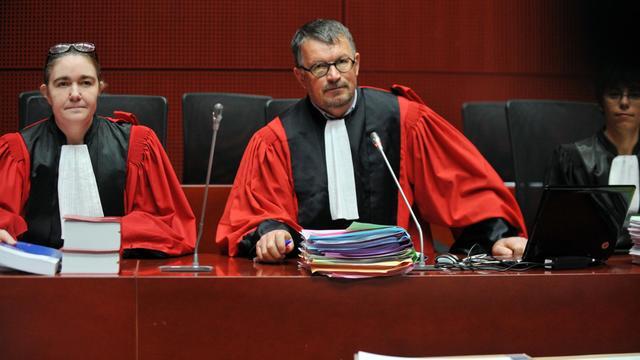 Dominique Pannetier (c), président de la cour criminelle de Nantes, pendant le procès de Tony Meilhon, le 22 mai 2013 [Frank Perry / AFP/Archives]