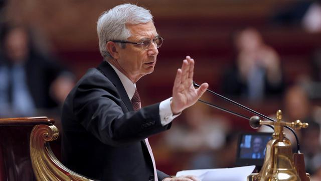 Le président de l'Assemblée nationale, Claude Bartolone, le 22 mai 2013 dans l'hémicycle [Patrick Kovarik / AFP/Archives]