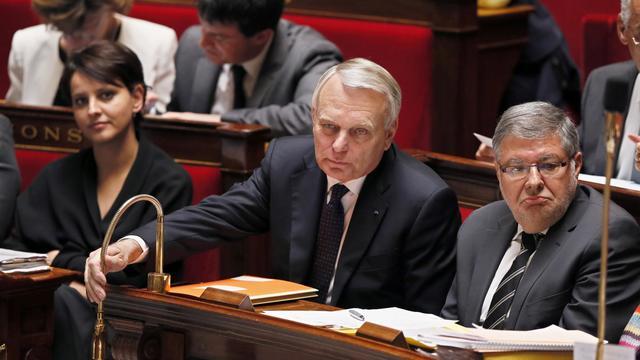 Le Premier ministre Jean-Marc Ayrault, le 22 mai 2013 à l'Assemblée nationale à Paris [Patrick Kovarik / AFP/Archives]