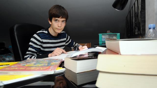 Maxime Parra le 22 mai 2013 chez lui à Saint-Orens-de-Gameville [Remy Gabalda / AFP]