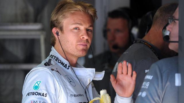 Le pilote Allemand de Mercedes Nico Rosberg après la première séance d'essais libre du GP de Monaco le 23 mai 2013 à Monaco [Tom Gandolfini / AFP]