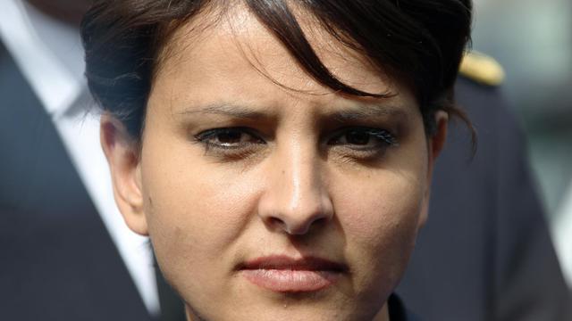 La porte-parole du gouvernement Najat Vallaud-Belkacem le 23 mai 2013 à Evreux [Charly Triballeau / AFP/Archives]
