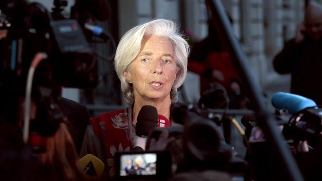 La directrice du FMI, Christine Lagarde, sort de la CJR à Paris, le 24 mai 2013 [Jacques Demarthon / AFP/Archives]