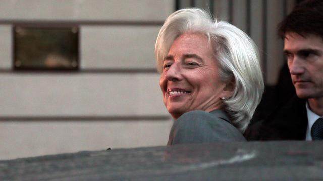 La directrice du FMI, Christine Lagarde, sort de la CJR à Paris, le 24 mai 2013 [Jacques Demarthon / AFP/Archives]