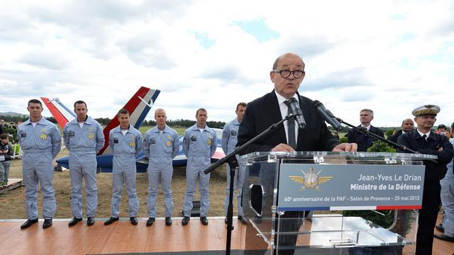 Le ministre de la Défense, Jean-Yves Le Drian, livre un discours, le 25 mai 2013 à Salon-de-Provence [Gerard Julien / AFP/Archives]