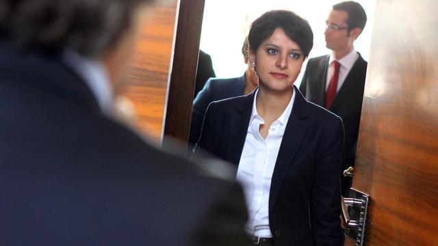 Najat Vallaud-Belkacem (PS), ministre du Droits des femmes et porte-parole du gouvernement, le 25 mai 2013 [Charly Triballeau / AFP/Archives]
