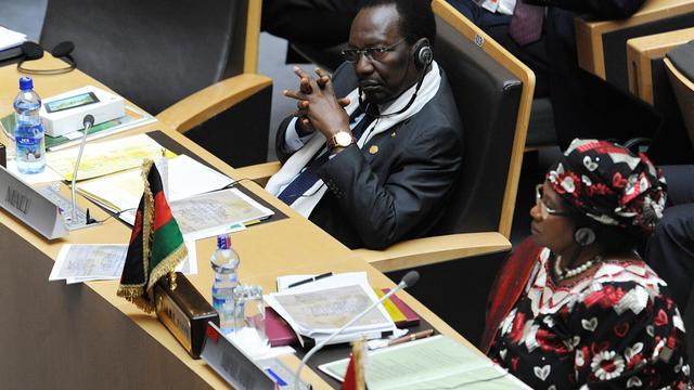Le président malien de transition, Dioncounda Traoré, à Addis Abeba, le 25 mai 2013 [Simon Maina / AFP]