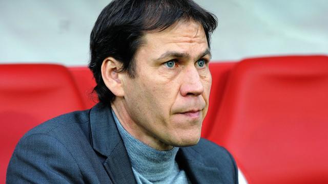 L'entraîneur de Lille Rudi Garcia lors du match de championnat contre Saint-Etienne, le 26 mai 2013 [Philippe Huguen / AFP/Archives]