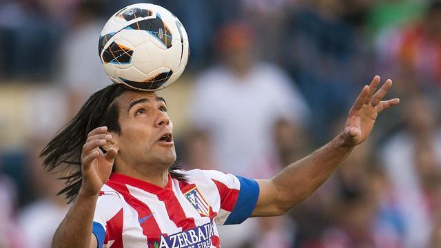 Falcao, lors de la rencontre Ateltico-Fc Barcelone, le 12 mai 2013 à Madrid [Dani Pozo / AFP]