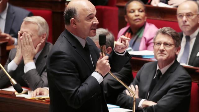 Le ministre de l'Economie et des Finances, Pierre Moscovici, s'exprime à l'Assemblée nationale, le 28 mai 2013 à Paris [Jacques Demarthon / AFP]