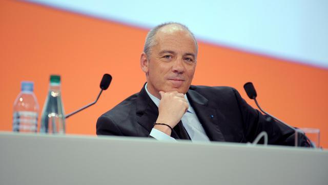 Stéphane Richard, le 28 mai 2013 lors de l'Assemblée générale du groupe France Télécom-Orange dont il est PDG [Eric Piermont / AFP/Archives]