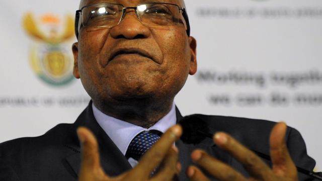 Le président sud-africain Jacob Zuma s'exprime, le 30 mai 2013 à Prétoria [Alexander Joe / AFP/Archives]