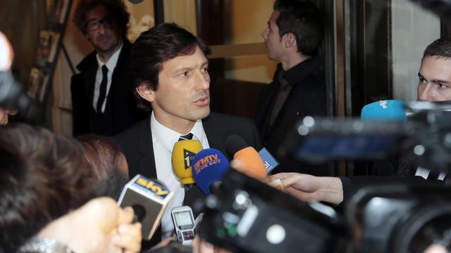 Le manager du PSG Leonardo à l'issue de son audition devant la commission de discipline de la LFP, le 30 mai 2013 à Paris [Jacques Demarthon / AFP]