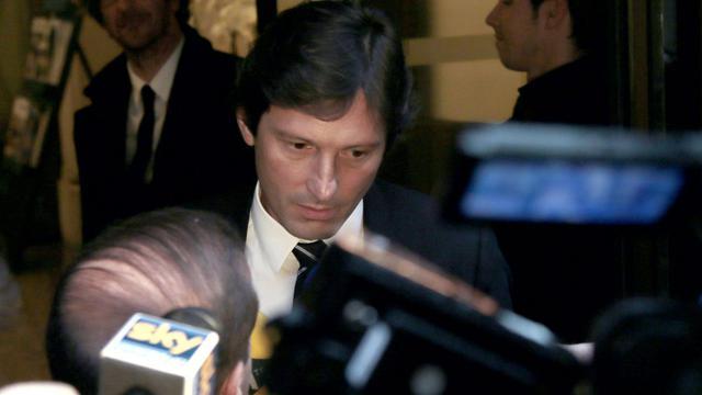 Le directeur sportif du PSG, Leonardo, le 30 mai 2013 à paris après son audition devant la Commission de discipline [Jacques Demarthon / AFP/Archives]