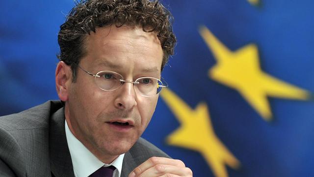 Le président de l'Eurogroupe et ministre néerlandais des Finances Jeroen Dijsselbloem, le 31 mai 2013 à Athènes [Louisa Gouliamaki / AFP]