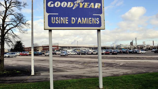L'entrée de l'usine Goodyear prise le 7 février 2013 à Amiens