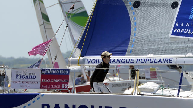 Armel Le Cléac'h quitte le port de Pauillac, le 2 juin 2013 [Jean Pierre Muller / AFP/Archives]
